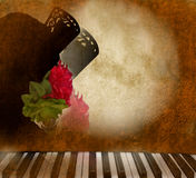 Card background Andalusian flamenco singer woman Stock Images