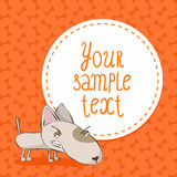 Card background with bull terrier Royalty Free Stock Images