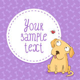 Card background with labrador Stock Images
