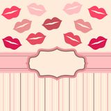 Card  background with lips Royalty Free Stock Images