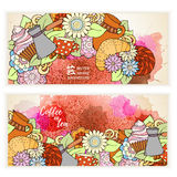 Card background for menu, site, cafe, restaurant, teahouse. Stock Images