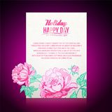 Card background from peonies Royalty Free Stock Image