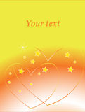 Card. Background with two hearts Royalty Free Stock Image