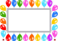 Card with balloons. Invitation card with balloons Stock Images