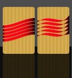 card bandet för meddelandereflexionen Arkivfoton