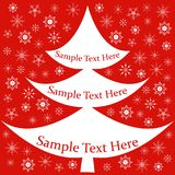 Card, banner with Christmas fir, snowflakes. On a red background, place for text Royalty Free Stock Photos