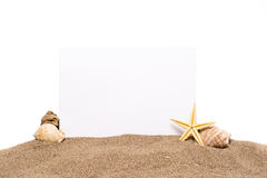 Card on the beach Stock Images