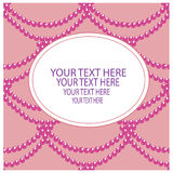 Card with a beads on a pink background. Stock Image