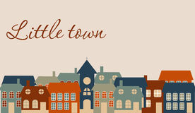 Card with a beautiful little  town Royalty Free Stock Photo