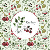 Card with berries. Royalty Free Stock Images