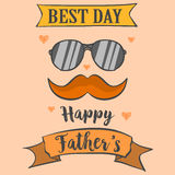 Card best dad for father day. Vector art Stock Image
