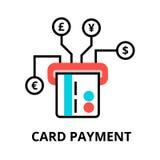 Card betalningsymbolen, för diagram och rengöringsdukdesign Arkivbild