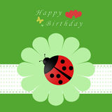 Card for Birthday. Colorful card for happy birthday Royalty Free Stock Images