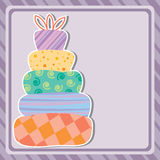 Card with birthday cake and copy-space Royalty Free Stock Image