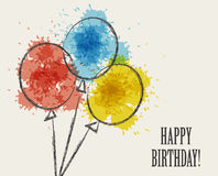 Card for birthday Royalty Free Stock Image