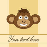 Card for birthday with a monkey in EPS 10 in  Stock Photo