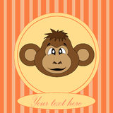 Card for birthday with a monkey in EPS 10 in  Royalty Free Stock Images