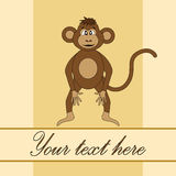 Card for birthday with a monkey in EPS 10 in vector Royalty Free Stock Photo