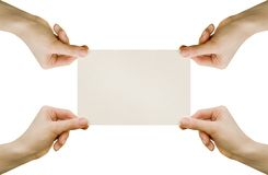 Card blank Stock Image