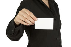 A card blank Royalty Free Stock Photo