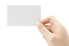 A card blank Royalty Free Stock Photos