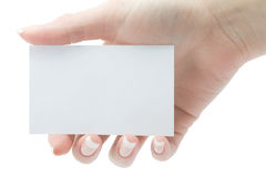 A card blank Royalty Free Stock Image