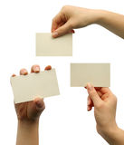 A card blank. In a hand Royalty Free Stock Photo