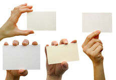 Card blank Royalty Free Stock Photo