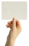 Card blank Royalty Free Stock Photos