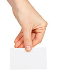 Card blank with hand Royalty Free Stock Photo