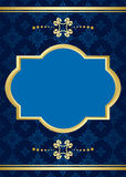 Card with blue pattern - vector Royalty Free Stock Images