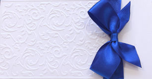 card with blue tape Stock Photos