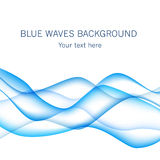 Card with blue waves on background. Stock Photo