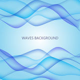 Card with blue waves on background. Stock Photography