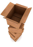 Card board boxes in a pile Royalty Free Stock Images