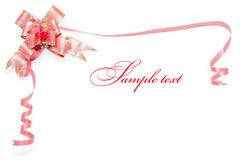 Card border from red ribbon Stock Photography