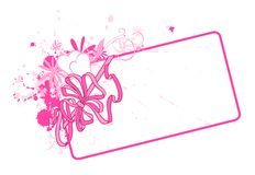 Card with bow Royalty Free Stock Photography
