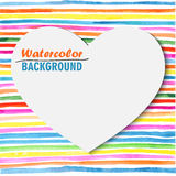 Card with bright colored stripes template Royalty Free Stock Photos