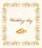 card bröllop Arkivfoto