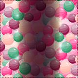 Card on Bubble Pattern with Dark Vertical Place for Text Stock Photography