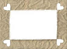 Card burlap. A border of burlap for your text or your images. This border is also useful for scrapbook vector illustration