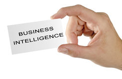 Card for business intelligence. Business card for business intelligence Royalty Free Stock Photo