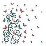 Card with butterflies. Royalty Free Stock Photo