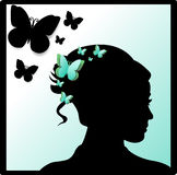 Card with butterflies Stock Images