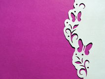 Card with butterflies. Paper cutting. Stock Photography