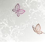 Card with butterfly Royalty Free Stock Images