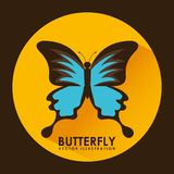 Card butterfly Royalty Free Stock Images