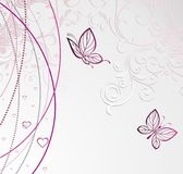 Card with butterfly for Valentine's Day Stock Images