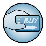 Card buy icon Royalty Free Stock Photography