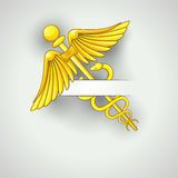Card with caduceus Royalty Free Stock Images